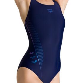 arena Chameleon V Back One Piece Swimsuit Women navy/neon blue